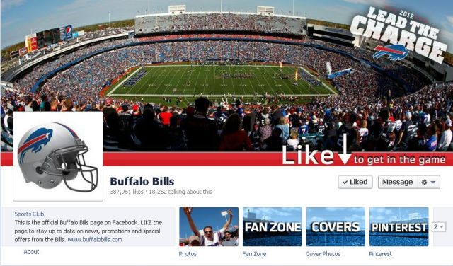 Buffalo Bills' Facebook Cover Photo