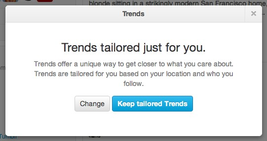 Twitter - Tailored Trends
